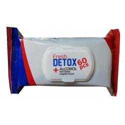 Lingettes désinfectantes virucides mains et surfaces - paquet de 60