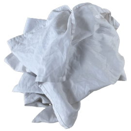Chiffon d'essuyage blanc coton non pelucheux - carton 10 kg